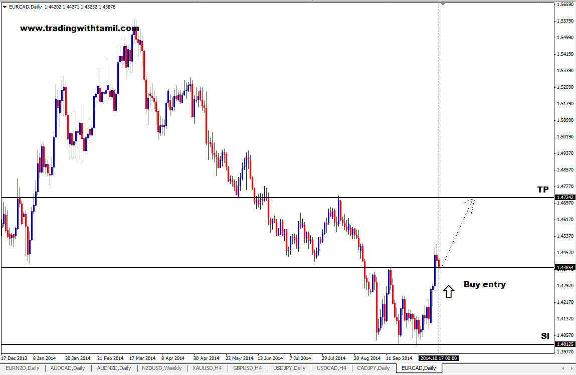 Q-FOREX LIVE CHALLENGING SIGNAL 19 OCT 2014 –BUY EUR/CAD