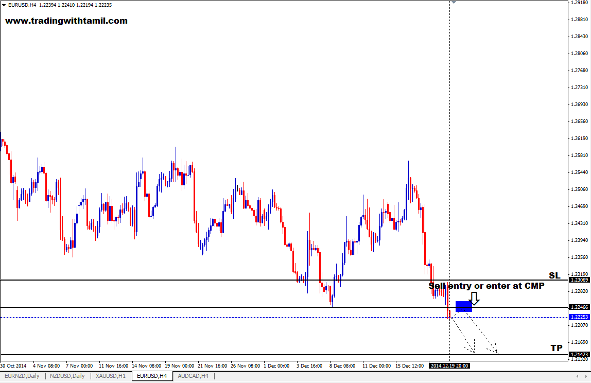 Q-FOREX LIVE CHALLENGING SIGNAL 21 DEC 2014 – SELL EUR/USD