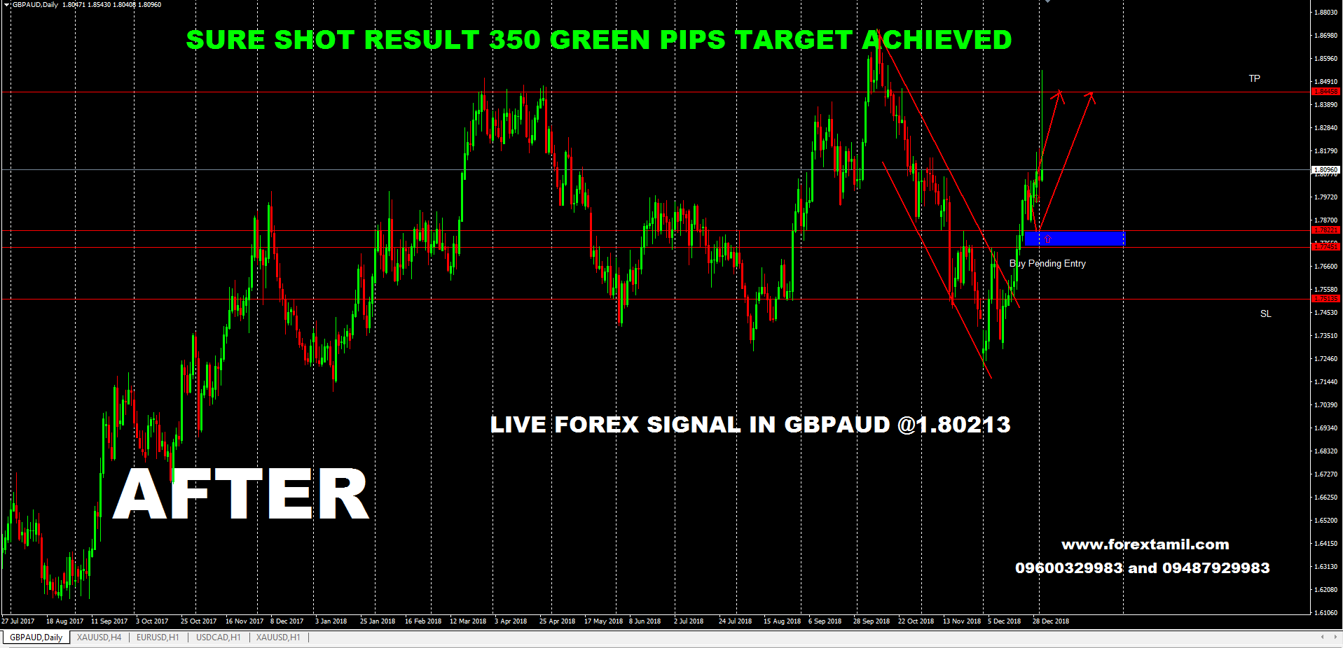 SURESHOT: GBPAUD GOT 350 GREEN PIPS!!-Massive.