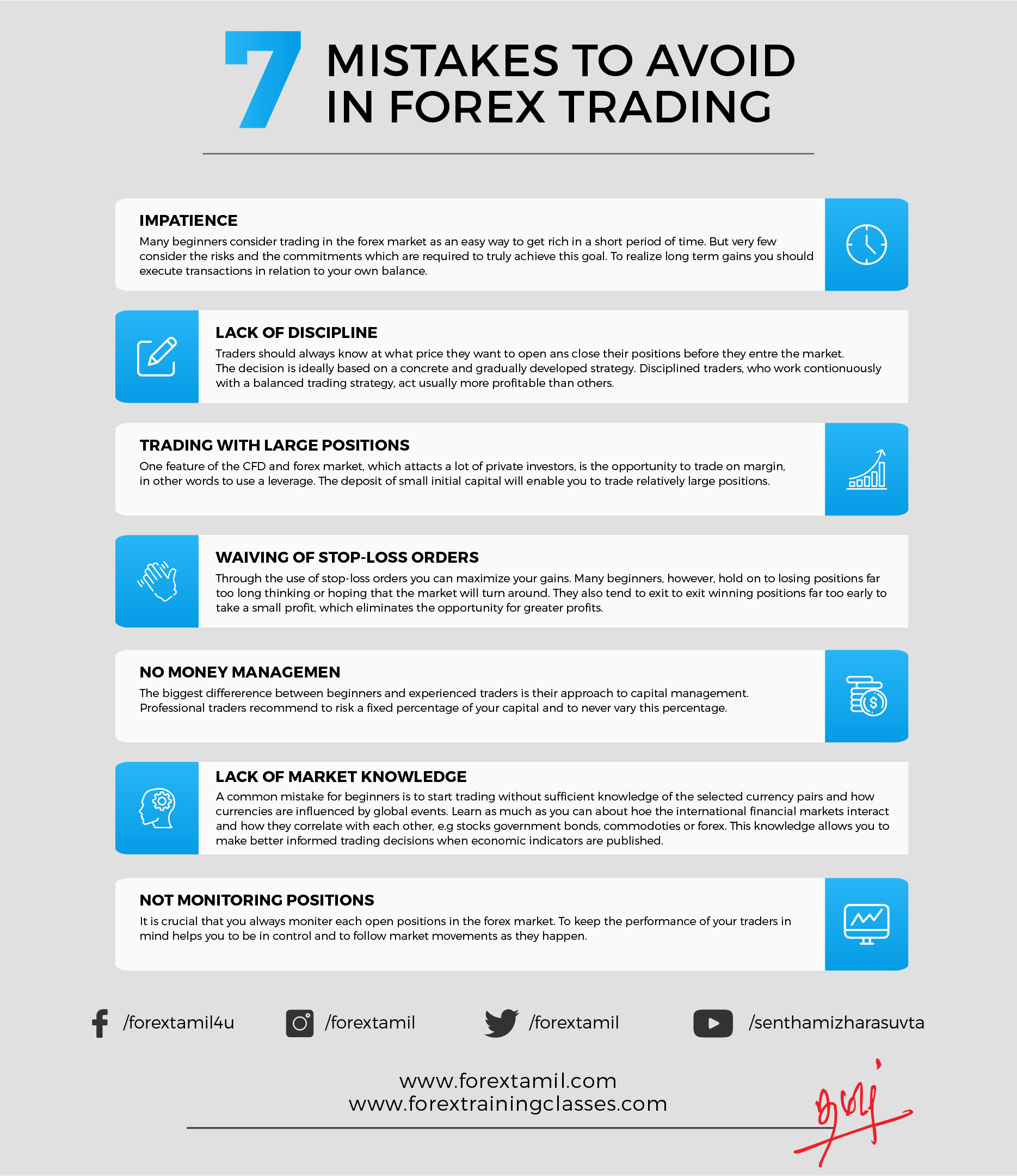 7 mistakes to avoid in Forex trading