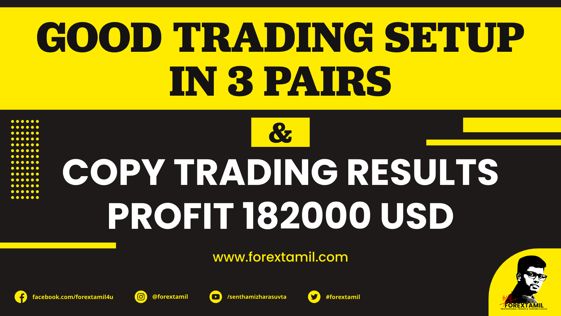 Good Trading Setup In 3 Pairs And Copy Trading Results Profit 182000 USD