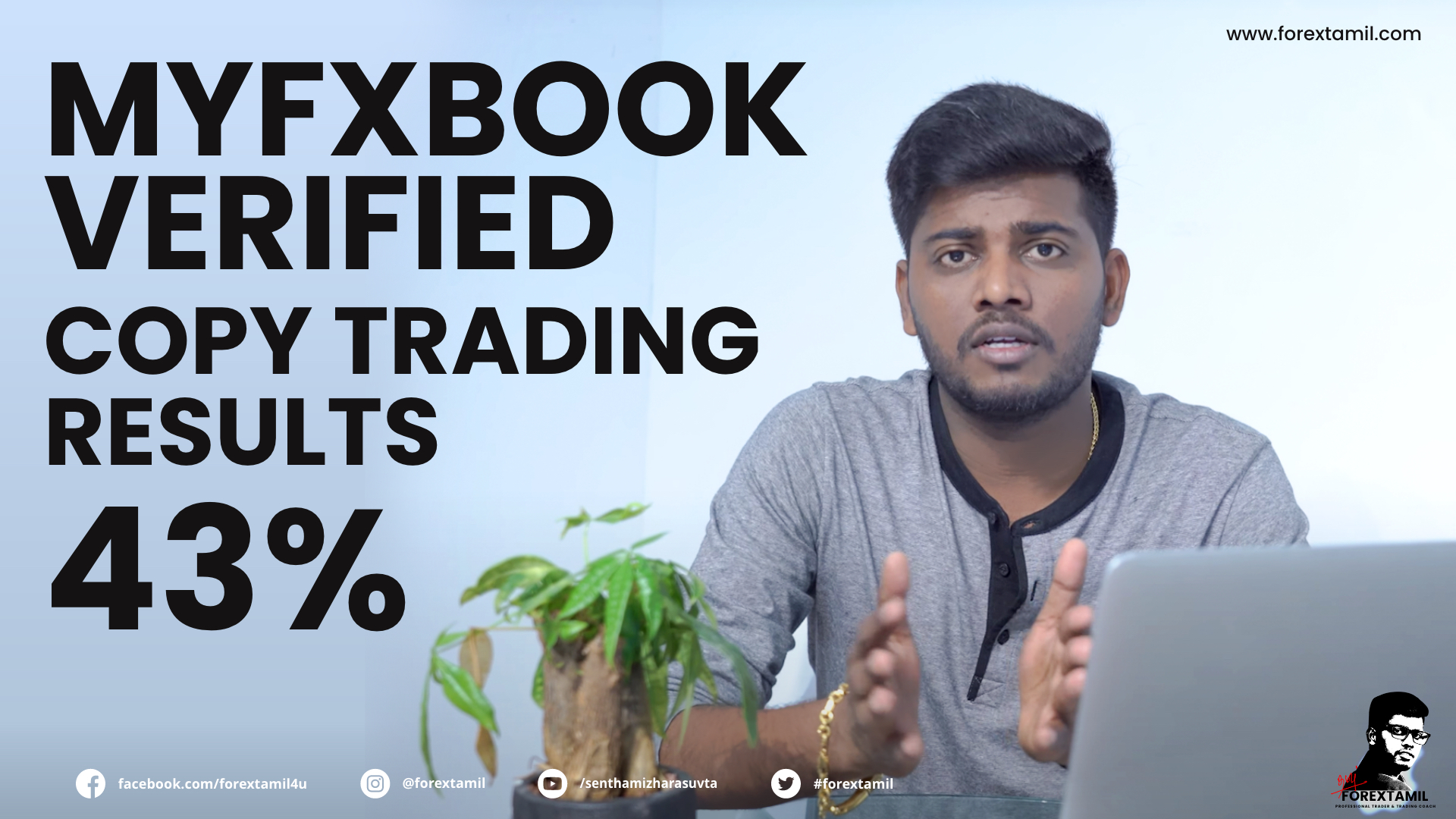 Myfxbook Verified Copy Trading Results 43% Watch how