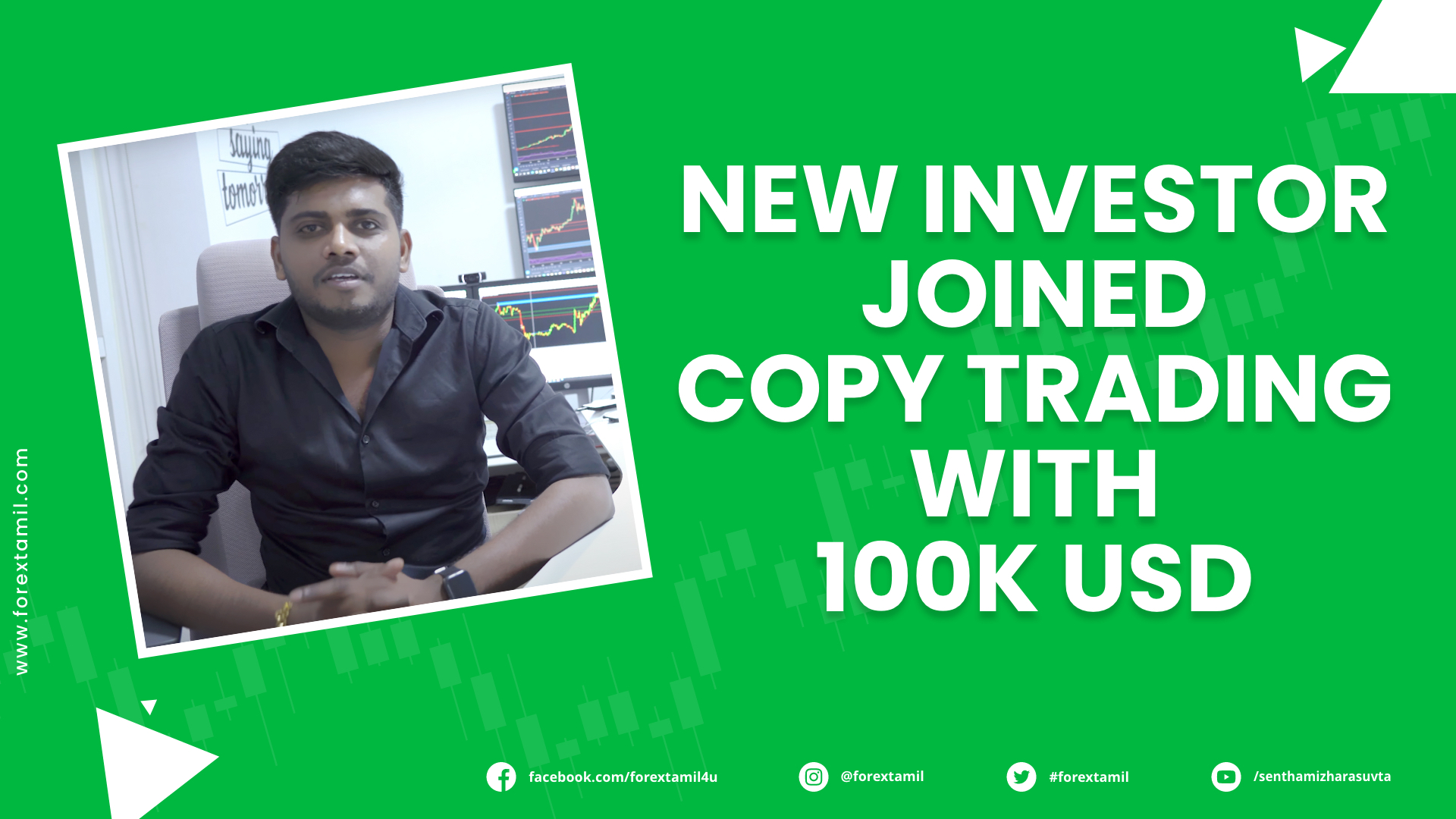 A New Investor Joined our Copy trading system with 100k USD Capital